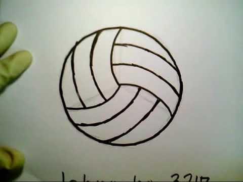 How To Draw A Volleyball Easily Dmitriy Muserskiy como dibujar una ...