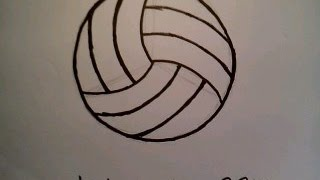 How To Draw A Volleyball Easily Dmitriy Muserskiy como dibujar una pelota de voleibol