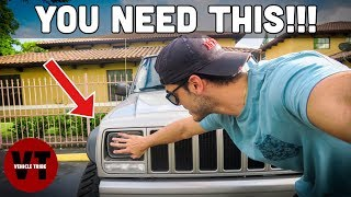 EVERY JEEP NEEDS THIS!! BEFORE AND AFTER | LED HEADLIGHT UPGRADE |