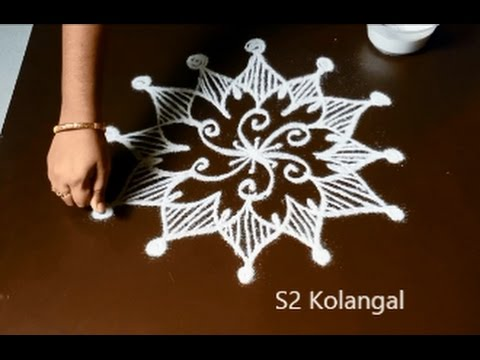 Easy Rangoli designs without dots - easy freehand kolam ...