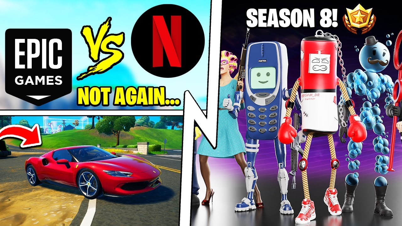 Next Battle Pass is GOOD, Netflix vs Epic Games, Fortnite Ferrari Secrets!