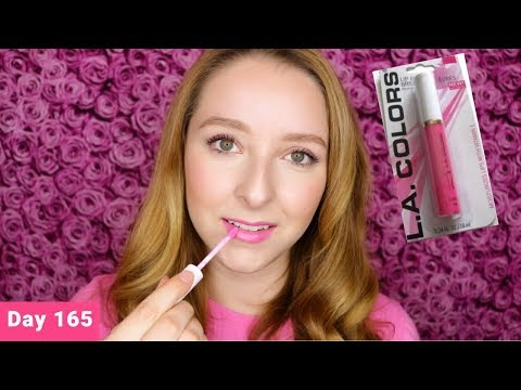 LA Colors Moisturizing Lipgloss   Paradise Pink   Dollar Store   Day 165 Of Trying New Makeup