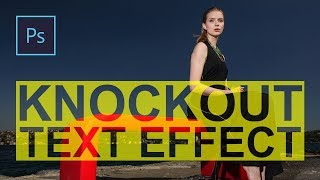 Knockout Text Effect In Photoshop   Photoshop Tutorial