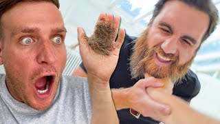 I SUPERGLUED MY HAND TO HIS BEARD... (Extremely Funny)