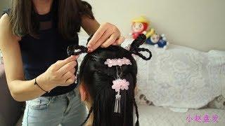 一学就会的儿童古装盘发,真的很吸引眼球,宝妈们不学太可惜了