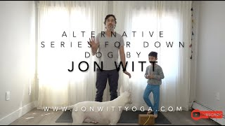 Yoga Tips: Alternative series for down dog  Special guests Noah and Pancho (with bonus ending)