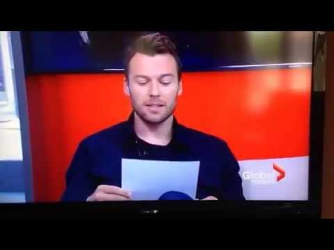 Peter Mooney from Rookie Blue on Global TV Noon  2015