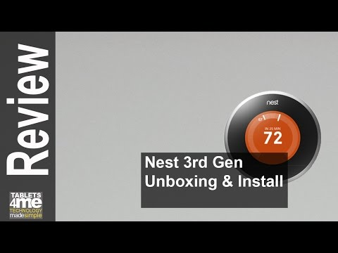 Nest Thermostat 3rd Generation Unboxing And Install