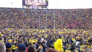Michigan Stadium Post-Game Celebration - 11/26/2011