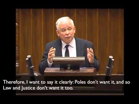 Debate on immigration, refugees in Polish parliament. Jaroslaw Kaczynski speech (English SUB) 2015