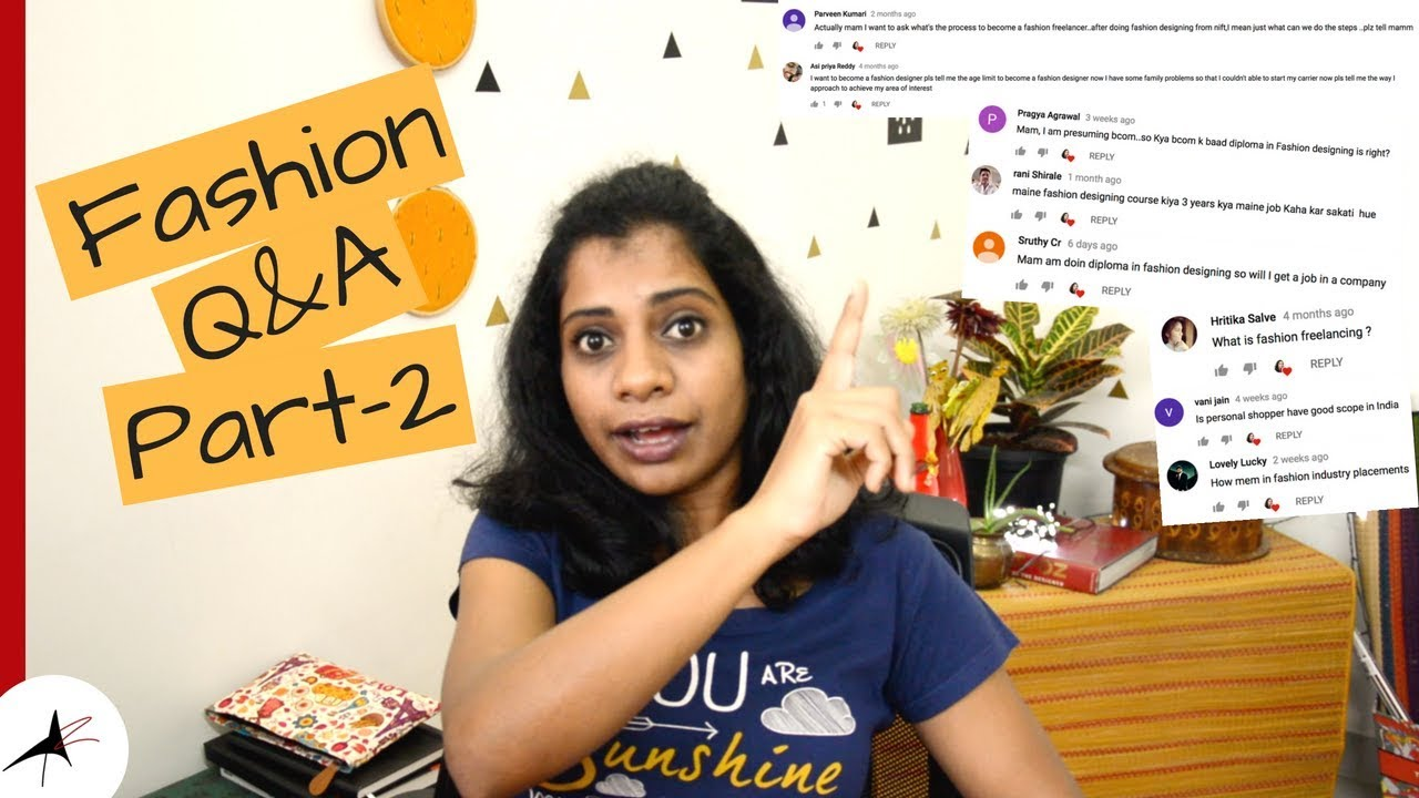 Fashion Career Q A Part 2 Fashion Designing For Beginners Arpitharai Youtube