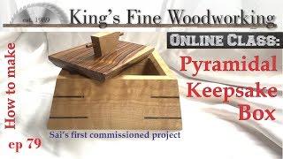 79 - Pyramidal Keepsake Box Sai's First Job