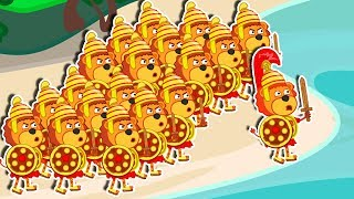 Lion Family 🏃 Superhero Family - Marathon | Cartoon for Kids