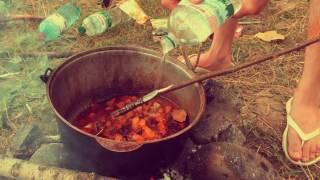 [Яйцо Дракона] Как приготовить мясной суп в горах на природе. Рецепт вкусного супа. [Не Выпуск]