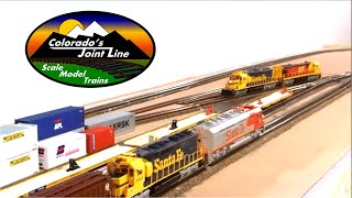 Colorado Joint Line HO Train layout part 2 (ops session)
