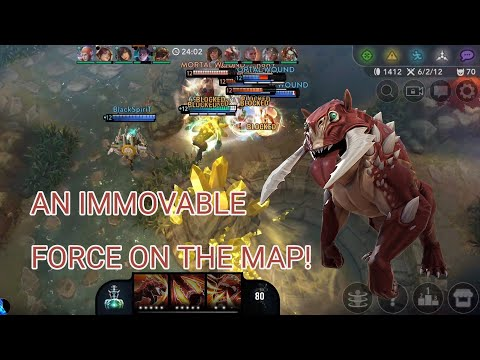 GRUMPJAW DOMINATING WITH NO DAMAGE ITEMS!   VAINGLORY 5V5 SOLO RANKED