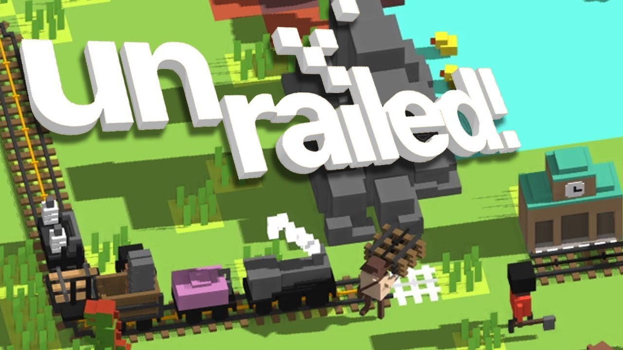 Download UNRAILED! - #2 - COW POWERED TRAIN?! (4 Player Gameplay)