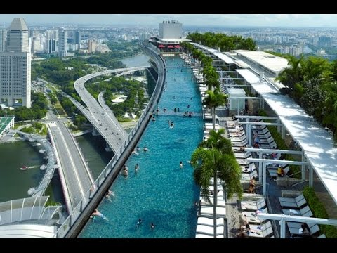 Marina bay sands complete view singapore tourism youtube - Singapore famous hotel swimming pool ...