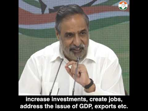AICC Press Briefing By Anand Sharma at Congress HQ on FM announcements on Economy