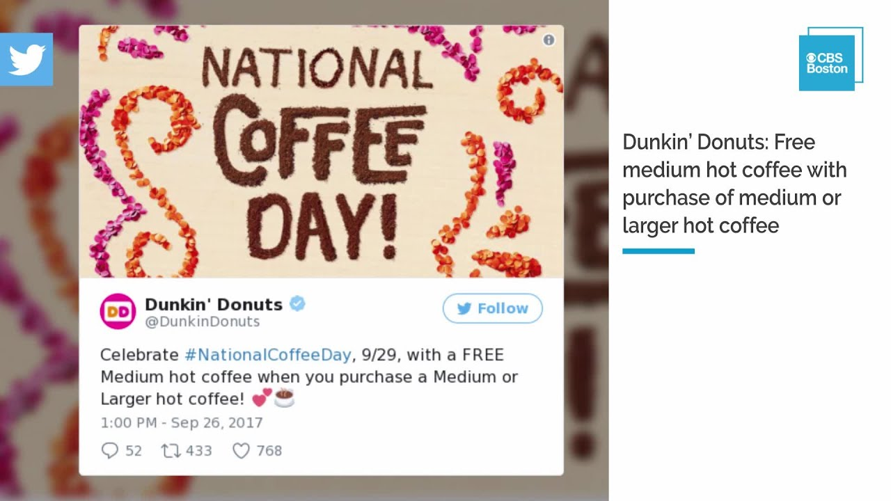 National Coffee Day: Where to get free, discounted cups of java on Friday