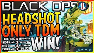 "Black Ops 4: ""HEADSHOT ONLY TEAM DEATHMATCH WIN!"" - Team Challenge #10! (BO4 Headshot Only TDM Win)"