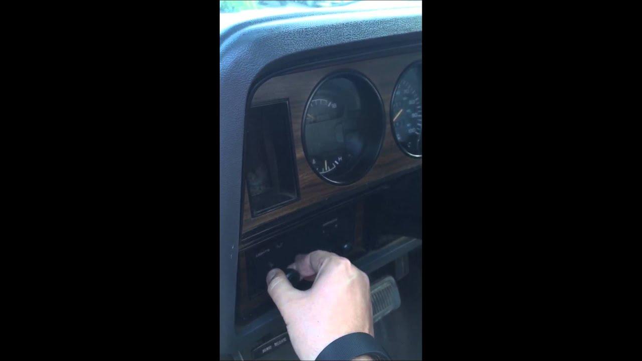 1st Gen Dodge Ram 250 Cummins Headlight Switch Issue Youtube