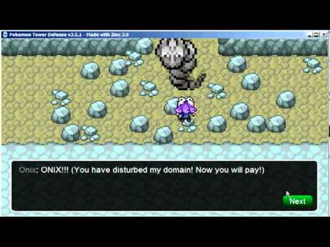 Pokemon Tower Defense - Rock Tunnel - Giant Onix Walkthrough