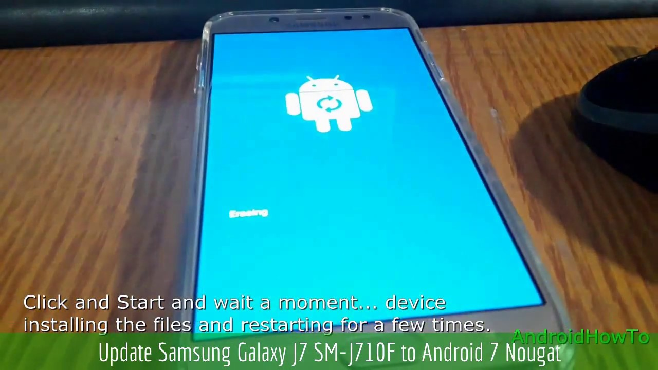 Update Samsung Galaxy J7 SM-J710F to Android 7 Nougat