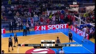 Trojka Vilijamsa sa pola terena   Crvena zvezda   Partizan 30 11 2014