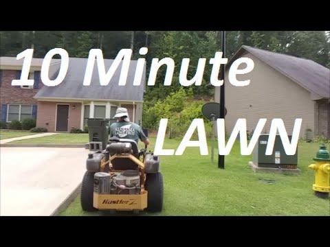 Cut, Trim, Edge & Blow in UNDER 10 Minutes - Small lawns = BIG MONEY