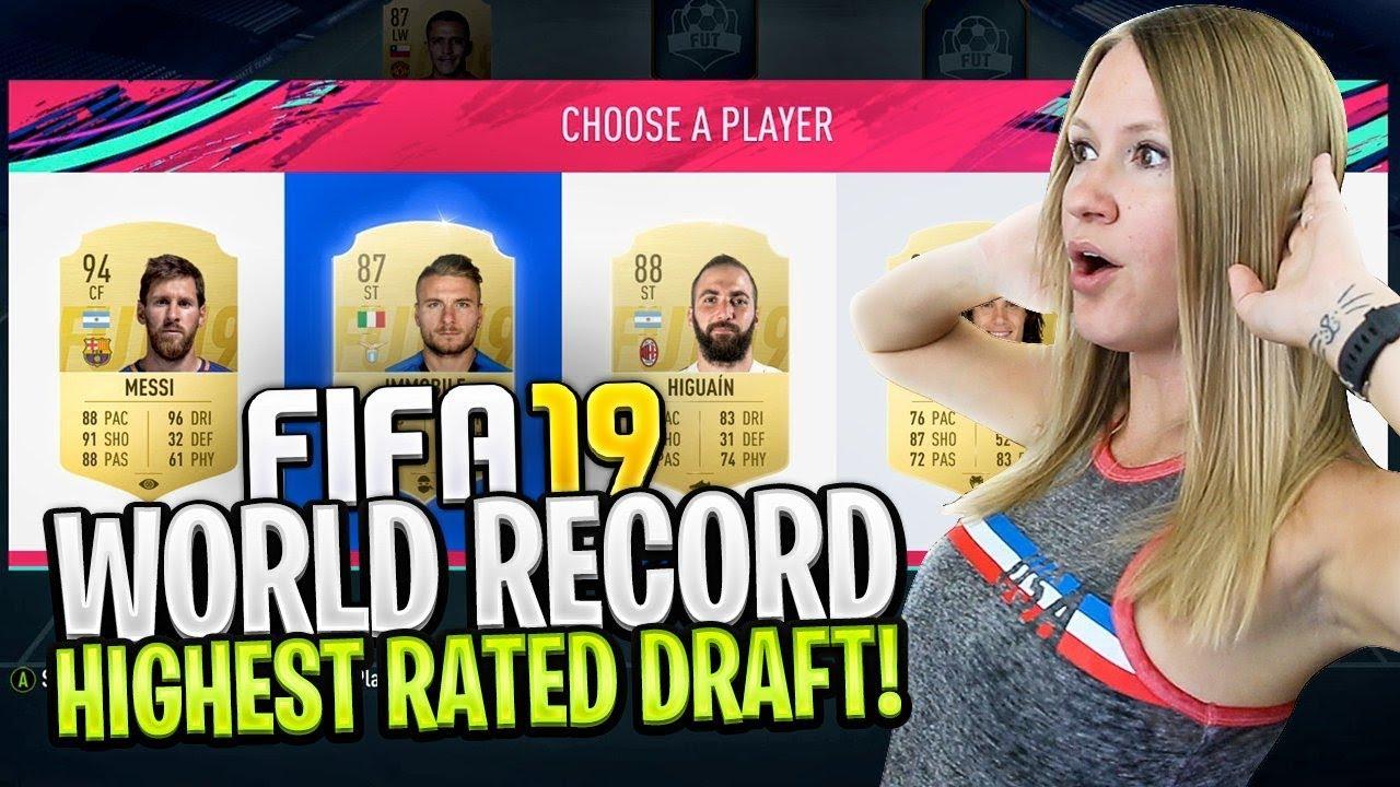 WORLD RECORD HIGHEST RATED FIFA 19 FUT DRAFT CHALLENGE ...