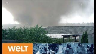 Tornado am Niederrhein: Aufräumen der enormen Schäden nach dem Unwetter
