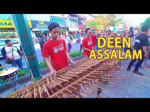 Deen Assalam - Cover Angklung, Syahdu Suaranya versi Angklung Carehal (Angklung Malioboro Jogja)