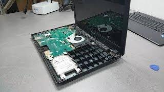 Wymiana baterii w laptopie - Asus R512