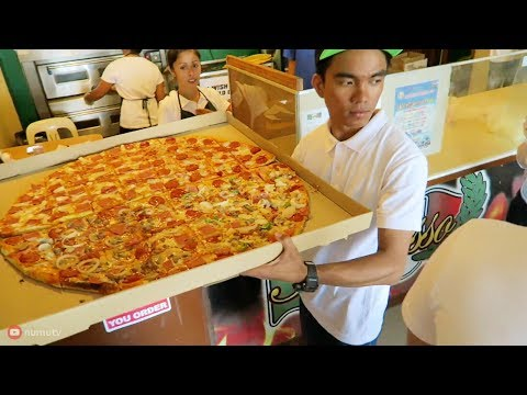 Giant PIZZA and Big BURGERS in Tuguegarao | AMAZING Filipino Pizza and Pinoy Burgers in Cagayan!
