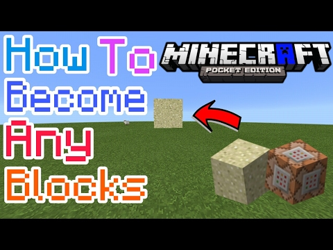 HOW TO BECOME ANY BLOCK IN MCPE 1.1 | Minecraft PE