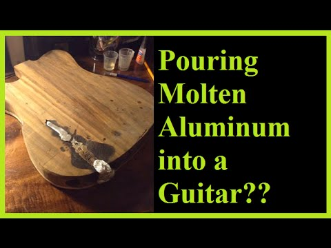 Telecaster Build Part VI: Filling the Rotted Core with Molten Aluminum