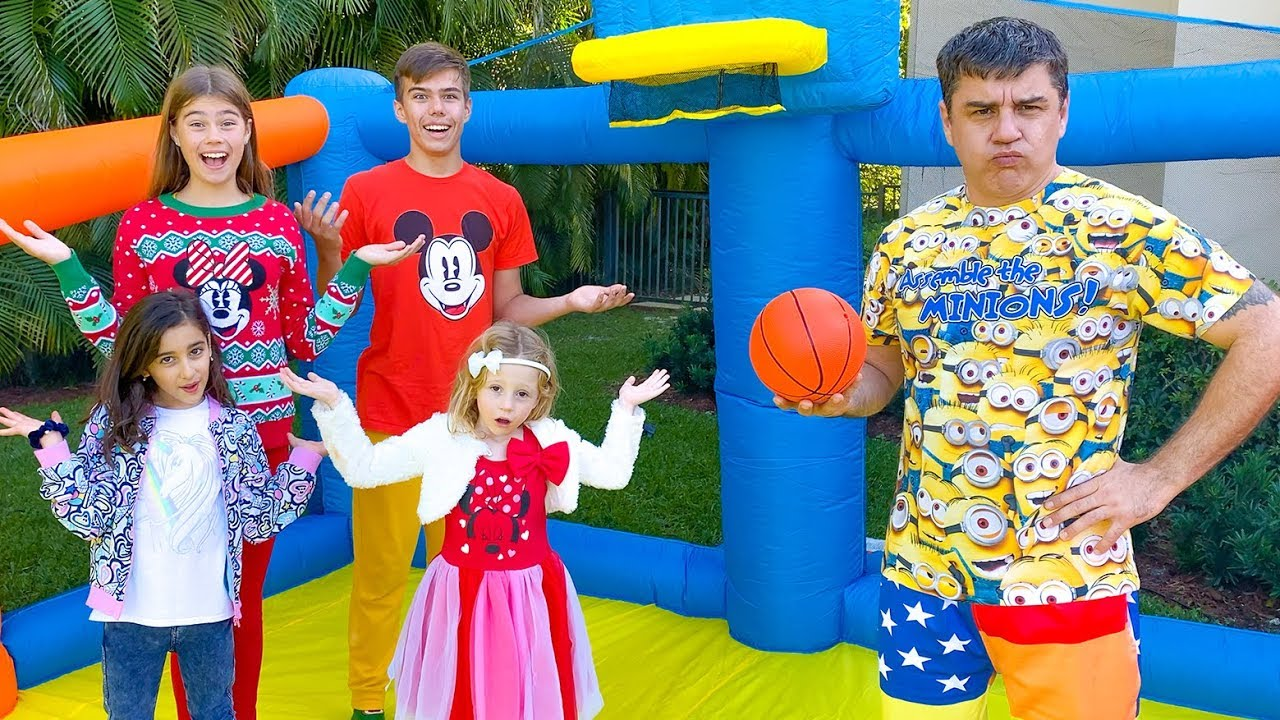 Download Stacy and friends play active outdoor games