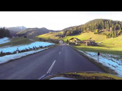 Driving to Braies