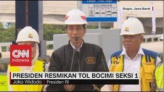 Jokowi Resmikan Tol Bocimi Seksi 1
