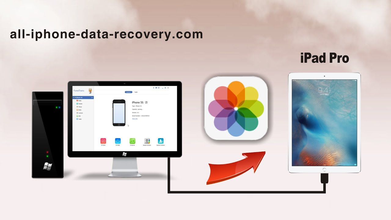 how to put pictures from ipad to computer