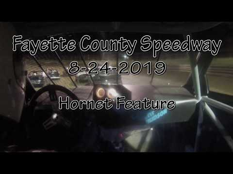 Fayette County Speedway Hornet Feature Driver Cam August 28 2019
