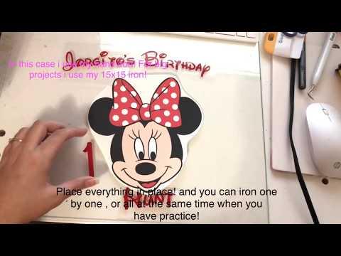 DIY Minnie Mouse Birthday Tshirt!