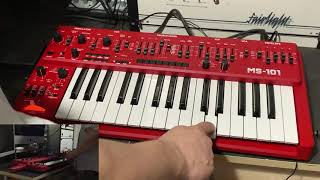 Behringer MS-101 vs Roland SH-101 - The 101 Shootout!