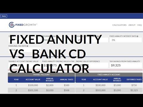 Fixed annuity vs bank cd calculator youtube.