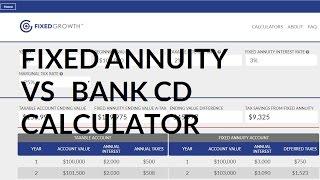 Fixed Annuity vs Bank CD Calculator