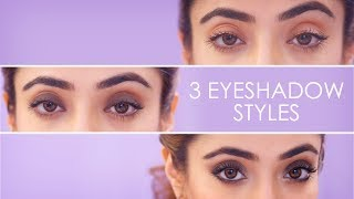 3 Simple Eyeshadow Styles | How To Apply Eyeshadow | Eye Makeup Tutorial | BeBeautiful