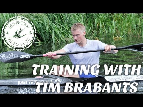Ben Brown training with Tim Brabants