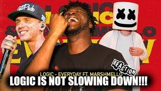 Logic - Everyday ft. Marshmello ( Audio) REACTION!!!