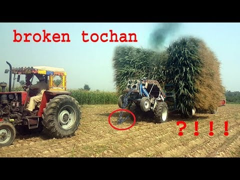 Awesome Incredible tractor fails,broken tractor tochan ford 4000 stuck with trolly heavy load